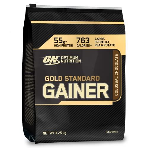 Optimum Nutrition ON Gold Standard Gainer, Mass Gainer Protein Pulver hergestellt für Muskelaufbau und Erholung, Chocolate, 16 Portionen, 3,25 kg