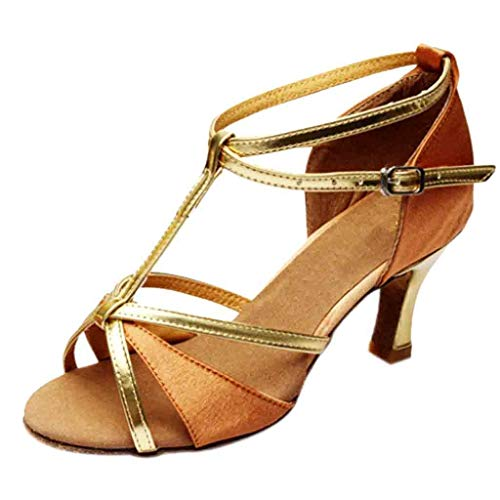 Dance Shoes for Women,Women's Girl Latin Tango Salsa Heeled Sandals Mid Heels Party Dress Pumps Shoes