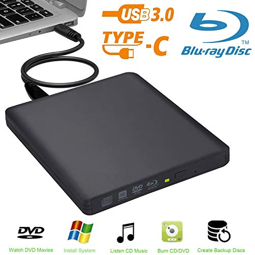 Externe Blu-Ray-drive Biscon USB 3.0 externe DVD Blu-Ray-brander voor Mac/PC/MacBook Pro AirWindows 10/7/8