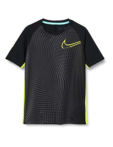 Nike Jungen CR7 B NK Dry TOP SS T-Shirt, Black/Lemon Venom/(Lemon Venom), XL