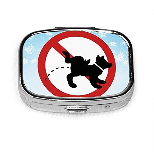 Animal Urine is Prohibited. Fashion Square Pill Box Vitamin Medicine Tablet Holder Wallet Organizer Case