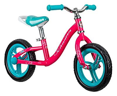 Schwinn Elm Girls Bike for Toddlers and Kids, 12-Inch Balance Bike, Pink