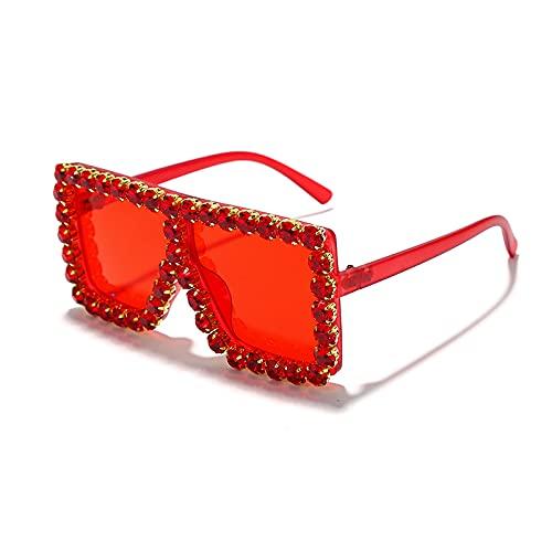 YULE Gafas cuadradas de diamantes de imitación de lujo para niños, con marco de ojos para niños, gafas vintage (colores de la lente: 4)