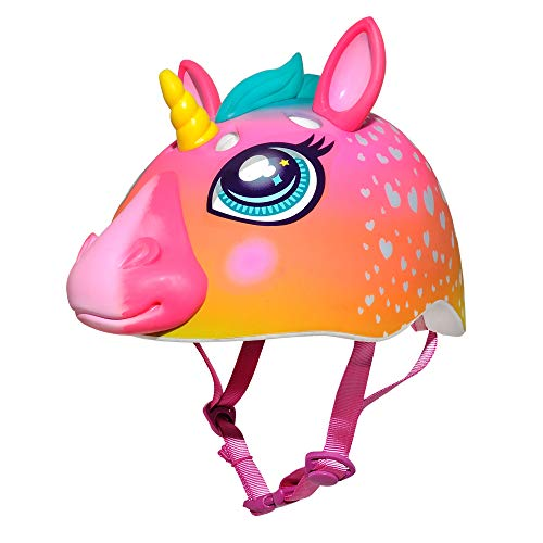 Raskullz Kids' C-Preme Super Rainbow Corn Helmet, Pink, One Size