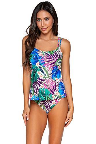 Sunsets Women's Taylor Tankini Top Swimsuit with Underwire, Island Safari, 38DD
