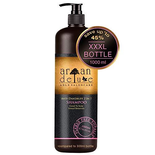 Argan Deluxe Anti-Schuppen Shampoo in Friseur-Qualität 1000 ml - Hilfe gegen Schuppen, juckende Kopfhaut und trockene Kopfhaut.