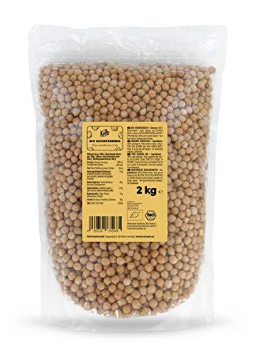 KoRo - Bio Kichererbsen 2 kg - Vegan Ohne Zusätze - Hülsenfrüchte im Vorteilspack
