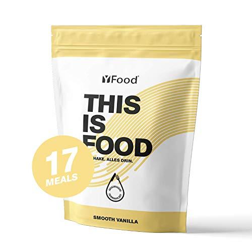 YFood Pulver Vanille | Laktose- und glutenfreier Nahrungsersatz | 17 Mahlzeiten, 26 Vitamine & Mineralstoffe | Proteinpulver zum Selbermischen| Leckerer Eiweiß-Shake | 1,5kg Beutel