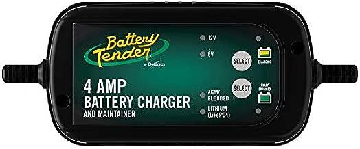 Battery Tender 6V/12V, 4A Selectable Lead Acid & Lithium Battery Charger