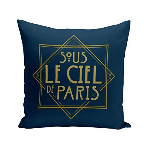 Fabulous Coussin 40x40 cm sous Le Ciel de Paris France Luxe Vintage