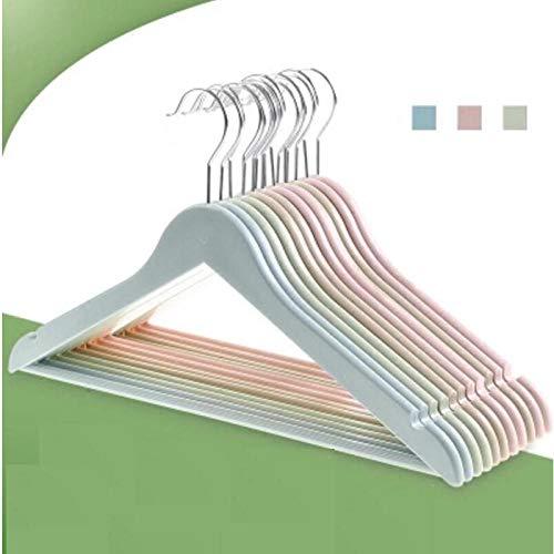 zhaoyangeng Kleerhangers, 2 delen/los 42 cm, kunststof, niet krasbestendig, roestvrij staal, duurzaam, volwassenen, kledinghanger, broek rack @ blauw