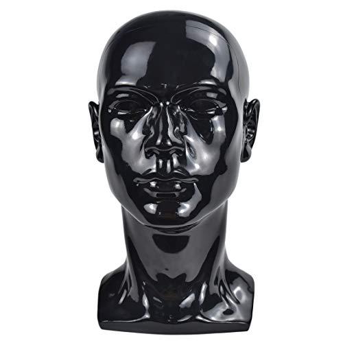 Modell Brille Headset Schwarz m/ännlicher Schaumstoff FEIDAjdzf Schaufensterpuppenkopf Schaufensterpuppe Per/ücke Display St/änder beflockter Kopf Werkzeug