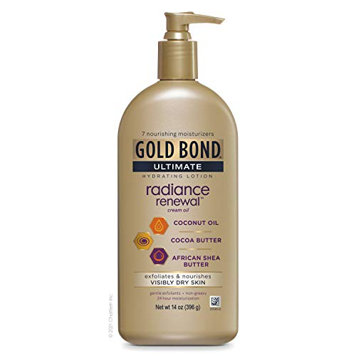 Gold Bond Ultimate 1 Count Radiance Renewal, COCONUT OIL, SHEA BUTTER & COCOA BUTTER, 14 Oz