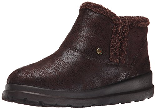 BOBS from Skechers Women's Cherish Tippy Toes Boot, Chocolate, 7.5 M US