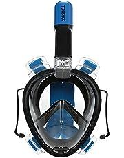 TOMSHOO 180 ° Máscara de Snorkel de Cara Completa Antivaho con Cámara de Montaje para Adultos Adolescentes