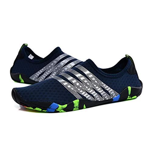 Hwqsw Surfeando Zapatos Descalzos para Hombres Zapatos de Agua de Verano Mujer Nadando Calcetines de Buceo Antideslizante Aqua Zapatos Playa Zapatillas de Aptitud Zapatillas de Deporte (Size : 38)