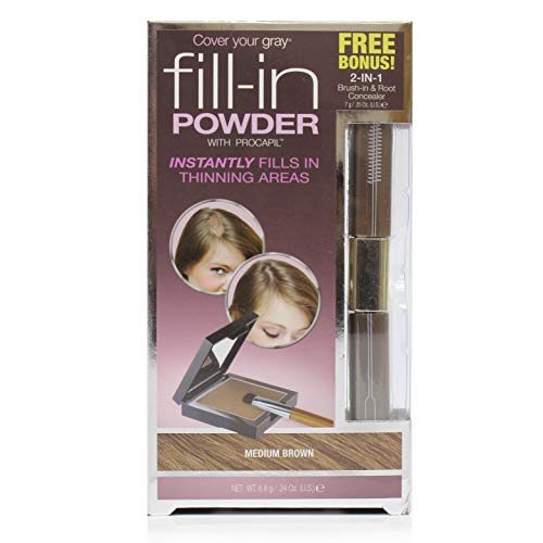 Price comparison product image Cover Your Gray Fill In Powder - Medium Brown with 2in1 Brush-in and Root Concealer