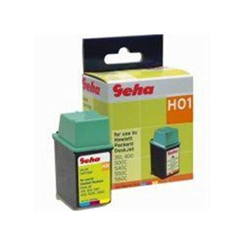 Geha H01–Druckerpatrone (ersetzt HP 25)–1x Farbe (cyan, magenta, gelb)
