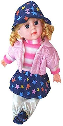 Ole Baby 3 In 1 Colorful Dolls Print Reversible Carry Nest Cum Cotton Baby Sleeping Bag (Blue, 0-6 Months)