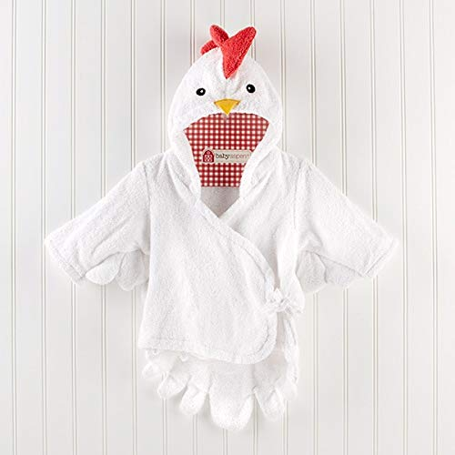 Hooded Animal Modeling Baby Bademantel/Cartoon Baby Spa Handtuch/Charakter Kinder Bademantel/Baby Strandtücher -white chiken
