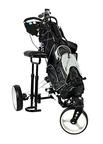 """Golftrolley Yorrx® SL Pro 7 HAMMA """"PLUS"""" Ausstattung, Golfwagen mit innovativem 360° SPIN Vorderrad (weiß) inkl. orig. Yorrx Golfhandtuch & Tees … - 8"""