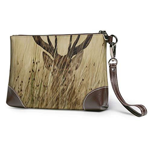 XCNGG Whitetail Deer Fawn In Wilderness Stag, bolso de mano estampado, bolso de mano de cuero desmontable, cartera, bolsos de mujer, bolsa de dinero