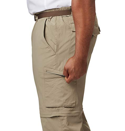 Columbia Men's Silver Ridge Convertible Pant, Breathable, UPF 50 Sun Protection, Tusk, 34x32