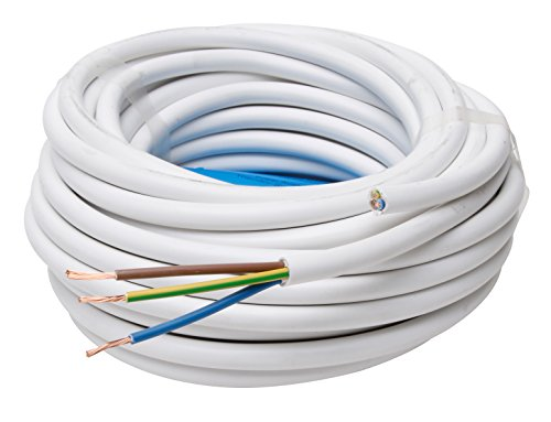 Kopp 151825002 - Conducto de Tubo Flexible (H05 VV-F 3G, 1,5 mm², 25 m), Color Blanco