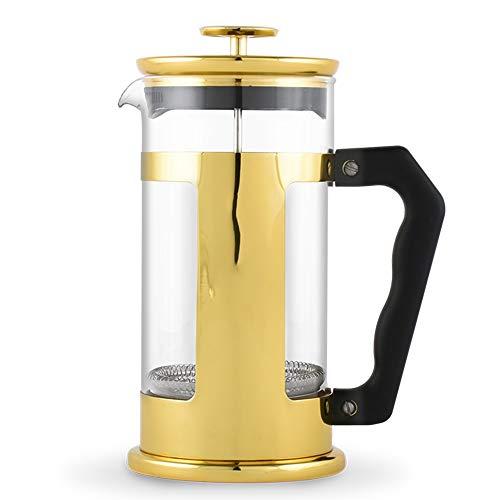WUJIAN Kaffeepressen Hand Made Kaffeefiltertopf Teefilter Cup Topf Küchengerät Kaffee Appliance Französisch Press Topfset für den morgendlichen Kaffeegenuß (Color : Gold, Size : 350ml)