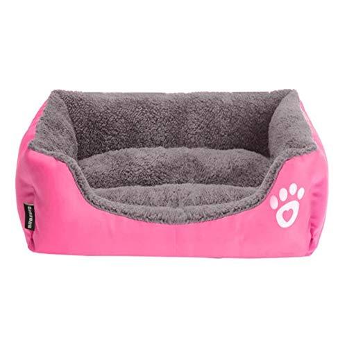 Aqiong KAERMA Waterdichte Bottom zachte fleece warm-kattenbed S-3XL 10 kleuren Paw Pet sofabedden huisdieraccessoires (size: roze XXL 95cmx75cmx18cm)