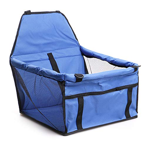 puseky Portabicicletas de asiento de coche portátil, impermeable, plegable, para gatos, perros, gatos y viajes al aire libre