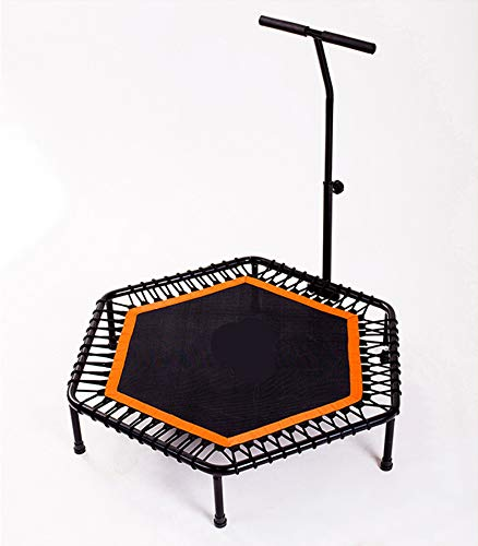 XGLL 44 Inch Mini Rebounder Trampoline with Adjustable Handle for Adults or Kids Indoor Fitness Rebounder Trampoline Max Load 330LBS