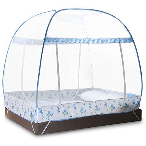 Klamboe Tent voor tweepersoonsbedden Opvouwbaar met volledige bodem past op een tweepersoonsbed van 1,5 x 2 meter