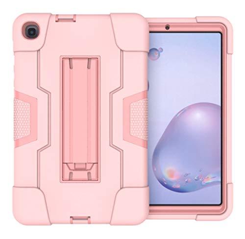 TianTa Funda para Galaxy Tab A 8.4 2020 SM-T307, Híbrido Tres Capas Funda Carcasa a Prueba de Golpes Caso PC + Silicona con Soporte para Samsung Galaxy Tab A 8.4-Pulgada 2020 Version - Pink/Pink