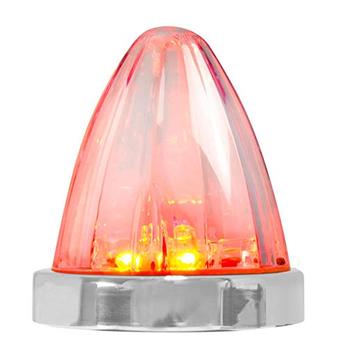 GG Grand General 81975 Red/Clear Watermelon Surface Mount 19 LED Light with Stainless Steel Bezel