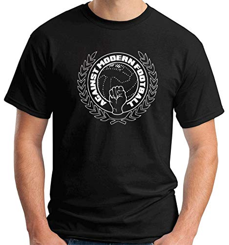 T-Shirt Hombre Negro WES1101 Against Modern Football Casuals Terrace