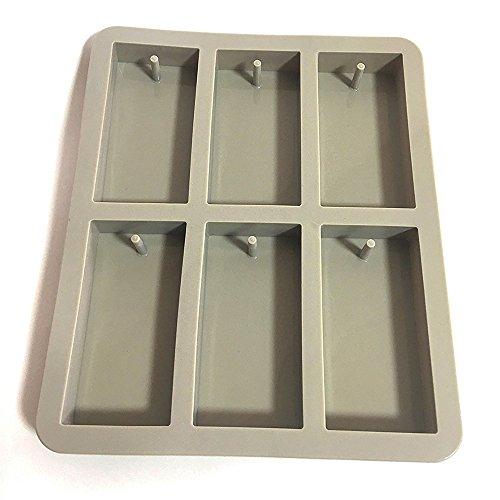 Soccik Silikon Seifenform Kuchenform 6 Hohlräume Rechteck Silikon Ofen Handgemachte Seife Formen Soap DIY Formen Schokoladen Schimmel