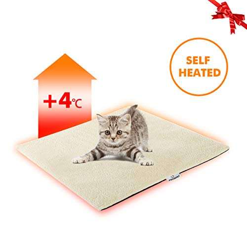 FOCUSPET Cat Thermal Mat, Cat Heating Pad Pet Bed Mat 19'x16' Self Heating Pad Dog Cat Bed Pad for Dogs & Cats Waterproof Innovative & Eco Friendly