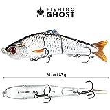 FISHINGGHOST XXL Bait Candy, Länge: 20 cm, Gewicht: 83 Gramm, Swimbait...