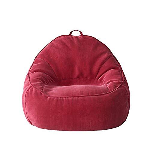 MUBAY Bean Bag Nido de Pájaro Relleno de Almacenamiento Puf Silla for niños y Adultos, Lazy Couch Frijol Presidente Bolsa, Sofá de Individuales Balcón Sofá Silla Infantil Lavable Tatami (Color : Red)