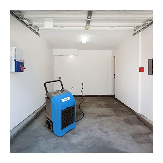 BlueDri BD-76 Water Damage Equipment Industrial Commercial Grade Large Dehumidifier for Home, Basements, Garages, and Job Sites - 76 AHAM/150 Saturation PPD, Pack of 8, Green 2 150 PINT DEHUMIDIFIERS - Ideal for water damage restoration projects of up to 150 pints per day at saturation (90ºF 90%RH)/76 PPD at AHAM (80ºF 60%RH), removing more water per day than normal 70 pint capacity dehumidifiers. CONVENIENT - This dehumidifier is packed with built in automatic water pump, digital panel, compact electrical control with auto restart, hour counter, RH and temperature sensors, drain hose, so you can get any job site done with just a few buttons. COMMERCIAL AND INDUSTRIAL USE - Designed to withstand the rigors of the toughest spaces, the BD-76 can go into construction zones and buildings damaged by flooding and other water accidents and work hard overnight or continuous for days at a time.
