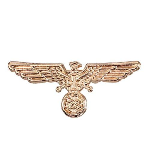 Fengteng Männer Brosche Adler Retro Tier Hübsch Herrschsüchtig Bankett Kleidung Accessoires Anstecknadel Abzeichen (Gold)