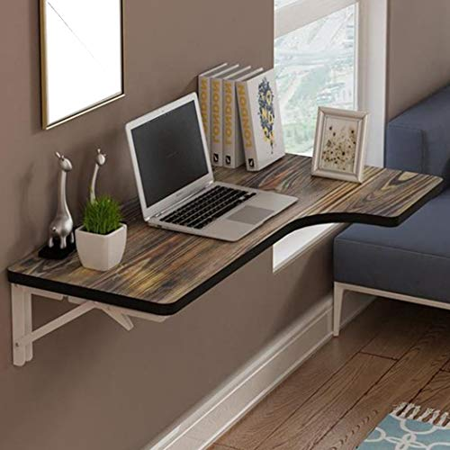Opvouwbare werkbank met opklapbare muur, ruimtebesparend uitklapbaar converteerbaar bureau voor studie, slaapkamer, badkamer of balkon 220 lb/100 kg belasting 120×70×50cm/47×28×20inch 4