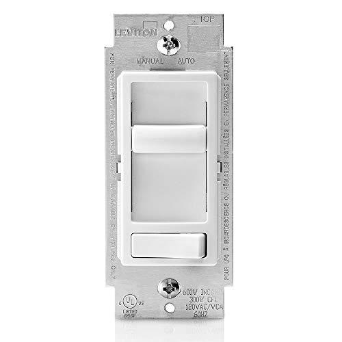 Leviton 6674-P0W SureSlide Universal 150-Watt LED and CFL/600-Watt Incandescent Dimmer, White