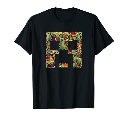 Minecraft Creeper Big Face Collage T-Shirt