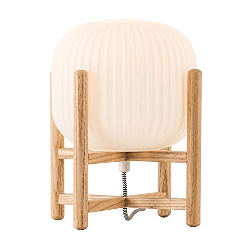 Lamparilla de noche Lámpara de mesa moderna dormitorio con cama de noche lámpara de noche luz de noche con elegancia de vidrio redondo, elegante decoración del hogar adecuado para sala de estar y dorm
