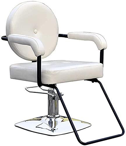 Sillas de peluquería silla de peinado hidráulico silla retro ascensor peluquero silla levantable salón peluquero silla peluquería peluquería silla PU Equipo de champú de cuero, salón de belleza SPA