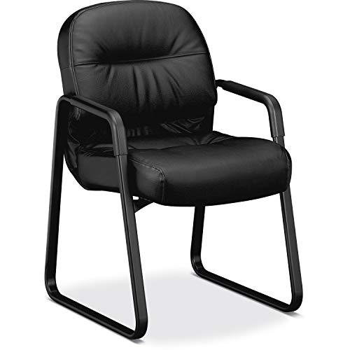 Global Tamiri Guest Armchair in Mock Leather Black