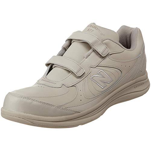 New Balance Men's 577 V1 Hook and Loop Walking Shoe, Bone/Bone, 11 XW US