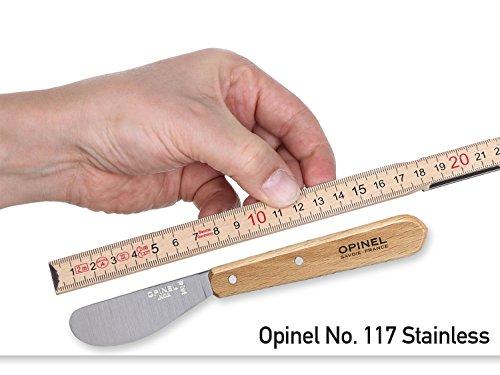 Opinel - Cuchillo de Cocina (Acero Inoxidable, 22,4 x 5,6 x 1 cm), Color marrón